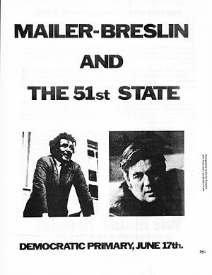 New York City: the 51st State -  Handbill for the campaign (front), 1969