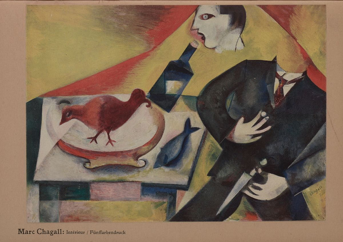 Marc Chagall, 1911-12, The Drunkard (Le saoul), 1912, oil on canvas. 85 x 115 cm. Private collection.jpg