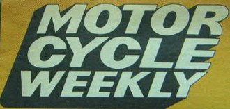 The Motor Cycle - Example front cover Masthead logo of Title changed to Motor Cycle Weekly and change of colour to orange.