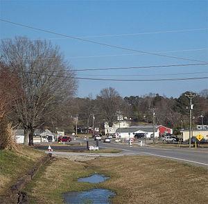Neel, Alabama - Neel, Alabama, seen from west of the five-way stop.