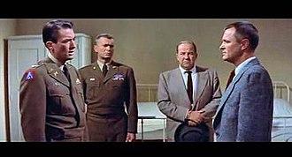 Night People (film) - Gregory Peck, Buddy Ebsen, Broderick Crawford, and Peter van Eyck in a Hospital scene (R2 DVD CinemaScope version)