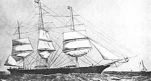 A. & J. Inglis - The clipper Norman Court was launched in 1869