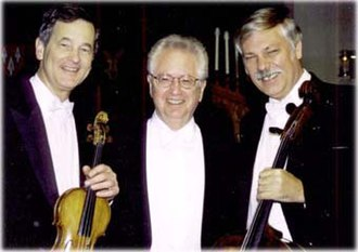 Oberlin Trio -  The original Oberlin Trio in 2000: Stephen Clapp, violin; Joseph Schwartz, piano; Andor Toth Jr., cello