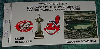 Ohio Cup -  A ticket from the 1989 Ohio Cup.