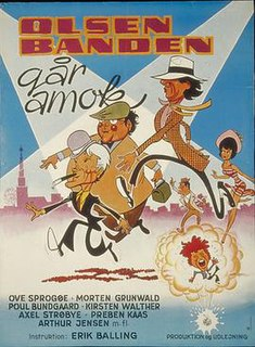 <i>The Olsen Gang Goes Crazy</i> 1973 film by Erik Balling