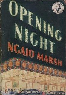 <i>Opening Night</i> (novel) book by Ngaio Marsh