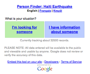 google person finder wikipedia