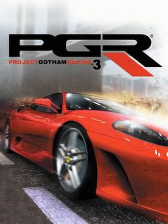 Project Gotham Racing 3 - Cover art featuring a Ferrari F430