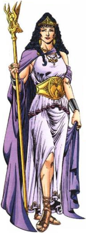 Hippolyta (DC Comics) - Hippolyta as she appears from the 1987 reboot until 2011's The New 52. Art by Phil Jimenez (2002).