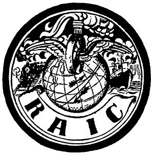 Max Lowenthal - Logo of the Russian-American Industrial Corporation, brainchild of Sidney Hillman.