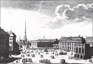 Riddarhustorget - Riddarhustorget in the 18th century.