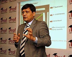 Sanjay Purohit - Sanjay Purohit speaking in Ahmadabad where iProf signed with Dr. Babasaheb Ambedkar Marathwada University in the presence of Narendra Modi