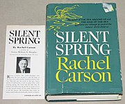 The Book-of-the-Month Club edition of Silent Spring, with included endorsement by William O. Douglas, had a first print run of 150,000 copies, two-and-a-half times the combined size of the two conventional printings for the initial release.