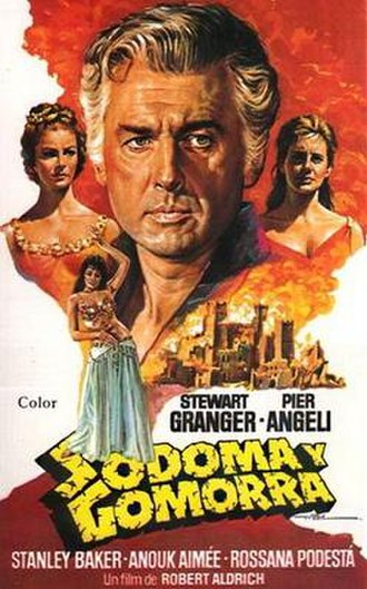 Sodom and Gomorrah (1962 film) - Spanish release poster