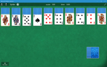 Windows Spider Solitaire