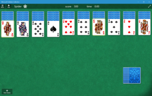 Microsoft Spider Solitaire - Microsoft Solitaire Collection on Windows 10, in Spider mode