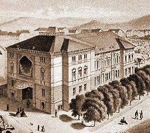 International Socialist Congress, Stuttgart 1907 - Image of the old Stuttgart Liederhalle, site of the 1907 International Socialist Congress.