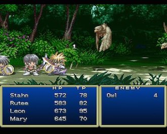 Tales of Destiny - Battle from the original PlayStation version of Tales of Destiny.