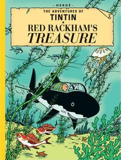 <i>Red Rackhams Treasure</i> comic book album