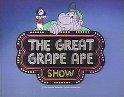 The title card for The Great Grape Ape Show