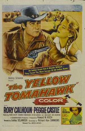 The Yellow Tomahawk - Theatrical release poster