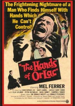 The Hands of Orlac (1960 film) - British original poster