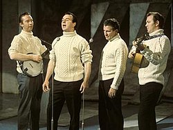 The Clancy Brothers and Tommy Makem in the 1960s (left-to-right: Tommy Makem, Paddy Clancy, Tom Clancy and Liam Clancy)