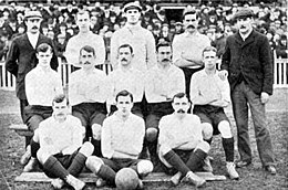 aa28a6755 Tottenham Hotspur players of the 1901 FA Cup Final posing in a group