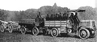 Arthur Constantin Krebs - The four wheel drive and four wheel steering Tracteur Panhard-Châtillon  military truck during the World War I