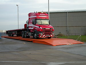 Truck scale - Image: Truck on weighbridge