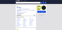 Screenshot of Urban Dictionary's front page