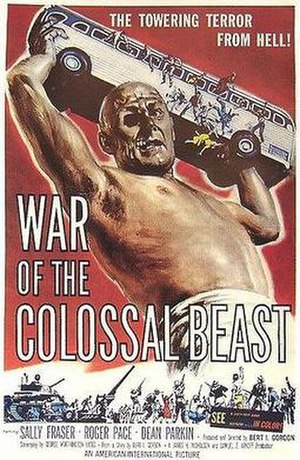War of the Colossal Beast - Theatrical release poster by Albert Kallis