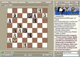World Chess Network - Image: World Chess Network (v 19.5, screenshot)
