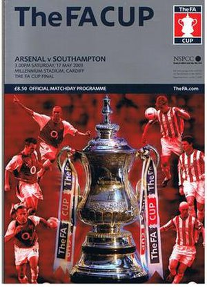 2003 FA Cup Final - The match programme cover