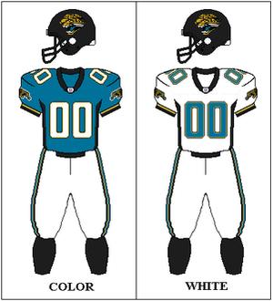 1997 Jacksonville Jaguars season - Image: AFCS 1997 Uniform JAX