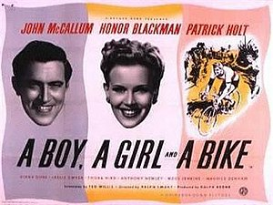 A Boy, a Girl and a Bike - British quad poster