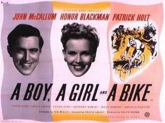A Boy, a Girl and a Bike - British quad poster