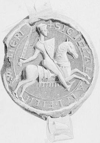 Ragnall mac Somairle - Nineteenth-century depiction of the seal of Alan fitz Walter, Steward of Scotland.