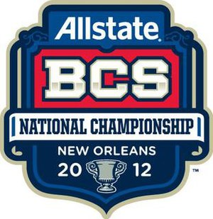 2012 BCS National Championship Game - Image: BCS12Title Logo