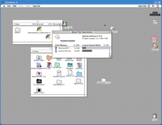 Emulator - Basilisk II emulates a Macintosh 68k using interpretation code and dynamic recompilation.