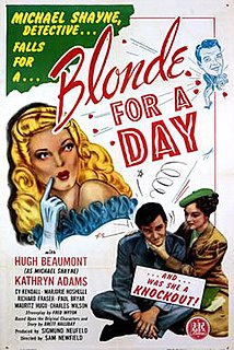 <i>Blonde for a Day</i> 1946 film