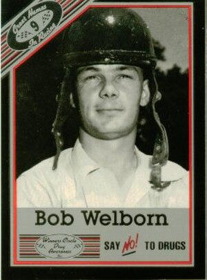 Bob Welborn - Bob Welborn's image on a NASCAR sports card