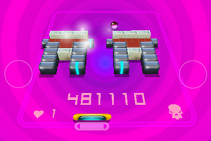 3D Brick Breaker Revolution - A boss battle in revolution mode.