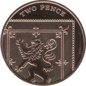 Two pence (British decimal coin) - Image: British two pence coin 2015 reverse