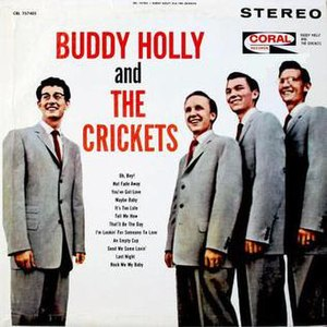 """The """"Chirping"""" Crickets - Image: Buddy Holly And The Crickets"""