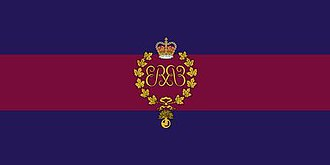 The Canadian Grenadier Guards - The camp flag of The Canadian Grenadier Guards.