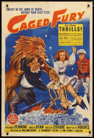 Caged Fury (1948 film) - Theatrical release poster