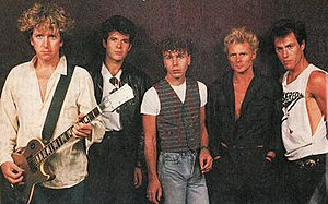 Chequered Past - Left to right: Steve Jones, Clem Burke, Nigel Harrison, Michael Des Barres and Tony Sales.