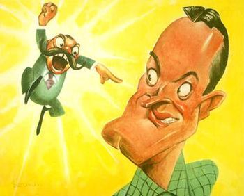 Jerry Colonna and Bob Hope as caricatured by S...