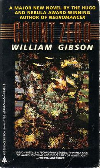 Count Zero - Cover of the April 1987 Ace paperback edition with cover art by Richard Berry.